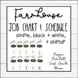 Farmhouse Classroom Job Chart & Schedule with White Shiplap