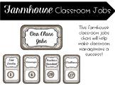 Farmhouse Classroom Jobs-EDITABLE