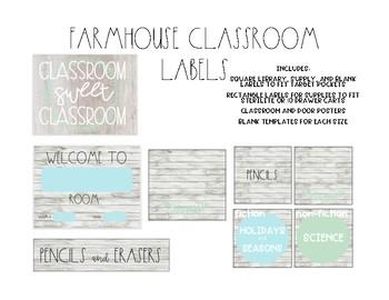 Farmhouse Classroom Labels