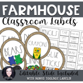 Farmhouse Classroom Labels (Dunn Inspired)