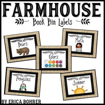 Farmhouse Classroom Library Labels