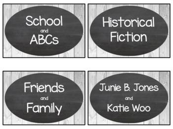 Farmhouse Classroom Library Labels (editable!!)