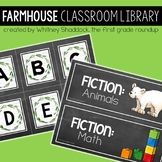 Farmhouse Classroom Library Tub Labels