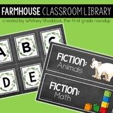 Farmhouse Classroom Library Tub Labels