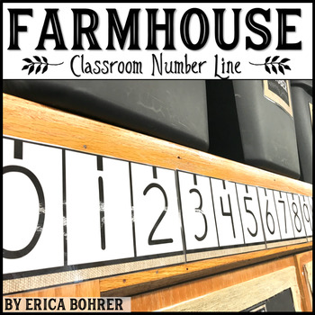 Farmhouse Classroom Number Line