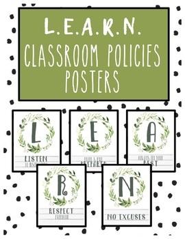 Farmhouse Classroom Policies LEARN
