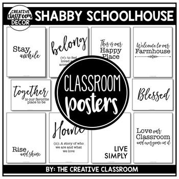 Farmhouse Classroom Posters