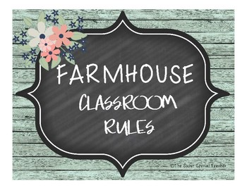 Farmhouse Classroom Rules
