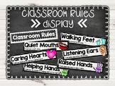 Farmhouse Classroom Rules Display
