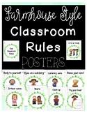 Farmhouse Classroom Rules Posters