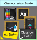 Farmhouse Classroom Decor Setup Bundle