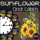 Farmhouse Classroom Theme Clock Labels