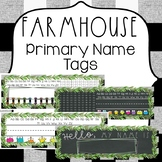 Farmhouse Classroom Theme Decor {EDITABLE Farmhouse Name Tags}