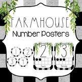 Farmhouse Classroom Theme Decor {Farmhouse Number Posters}