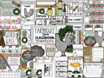 Farmhouse Classroom Theme Decor Pack