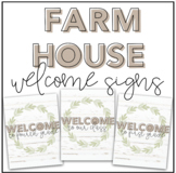 Farmhouse Classroom Welcome Signs