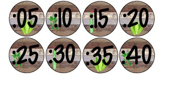 Farmhouse Clock Labels