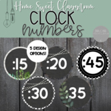 Farmhouse Clock Numbers - Clock Labels - Home Sweet Classroom