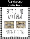 Farmhouse Collection calendar months