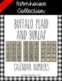 Farmhouse Collection calendar numbers *EDITABLE*