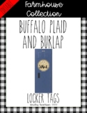 Farmhouse Collection circle locker tags or cut outs *EDITABLE*