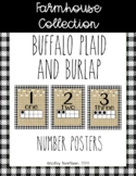 Farmhouse Collection number posters with ten frames #1-20