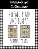 Farmhouse Collection schedule cards *Editable*