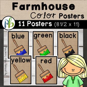 Farmhouse Color Posters