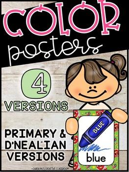 Farmhouse Color Posters (Set #2) - Farmhouse Classroom Decor