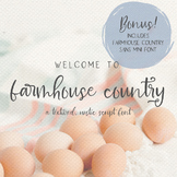 Farmhouse Country Rustic Font Duo