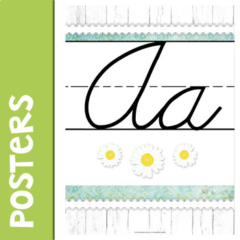Farmhouse Cursive Alphabet Posters