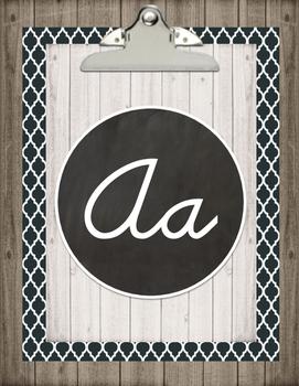 Farmhouse Cursive Alphabet Posters Option 2
