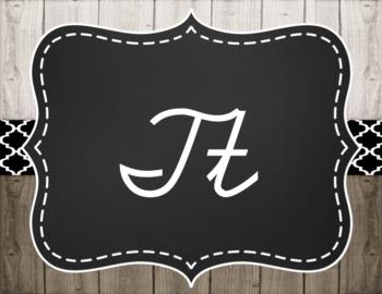 Farmhouse Cursive Alphabet Posters Option 4