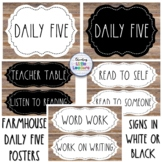 Farmhouse Daily Five Signs