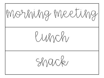 Farmhouse Daily Schedule Cards