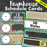 Farmhouse Daily Schedule Cards / Rustic /  Chic / Back to School