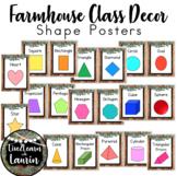 Farmhouse Decor: 2D & 3D Shape Poster Set