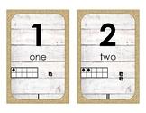 Farmhouse Decor: Number Line