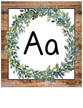 Farmhouse Decor Alphabet Posters (Print and Cursive)
