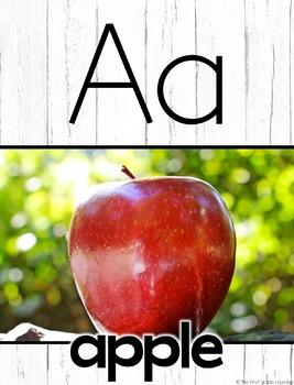 Farmhouse Decor Alphabet Posters and Chart