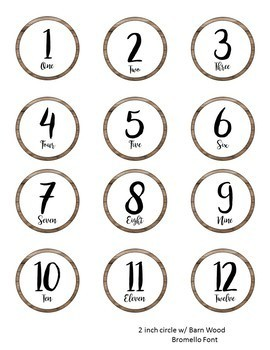 Farmhouse Decor-Barn Wood Numbers