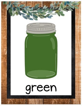 Farmhouse Decor: Basic Colors Posters (Mason Jars)