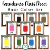 Farmhouse Decor: Basic Colors Posters (Mason Jars)