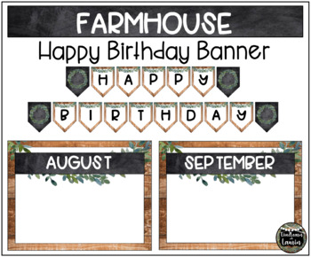 Farmhouse Decor Birthday Banner & Poster Set