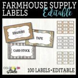 Farmhouse Classroom Decor: Banner, Edison String Lights, a