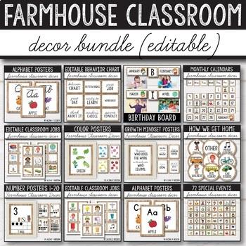 Farmhouse Classroom Decor Bundle - Rustic Classroom Decor