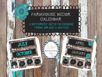 Farmhouse Decor- Calendar
