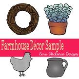 Farmhouse Decor Clipart Sample