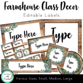 Farmhouse Decor - Editable Labels (Various Sizes)