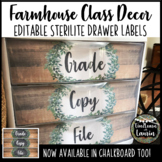 Farmhouse Decor - Editable Sterilite Drawer Labels